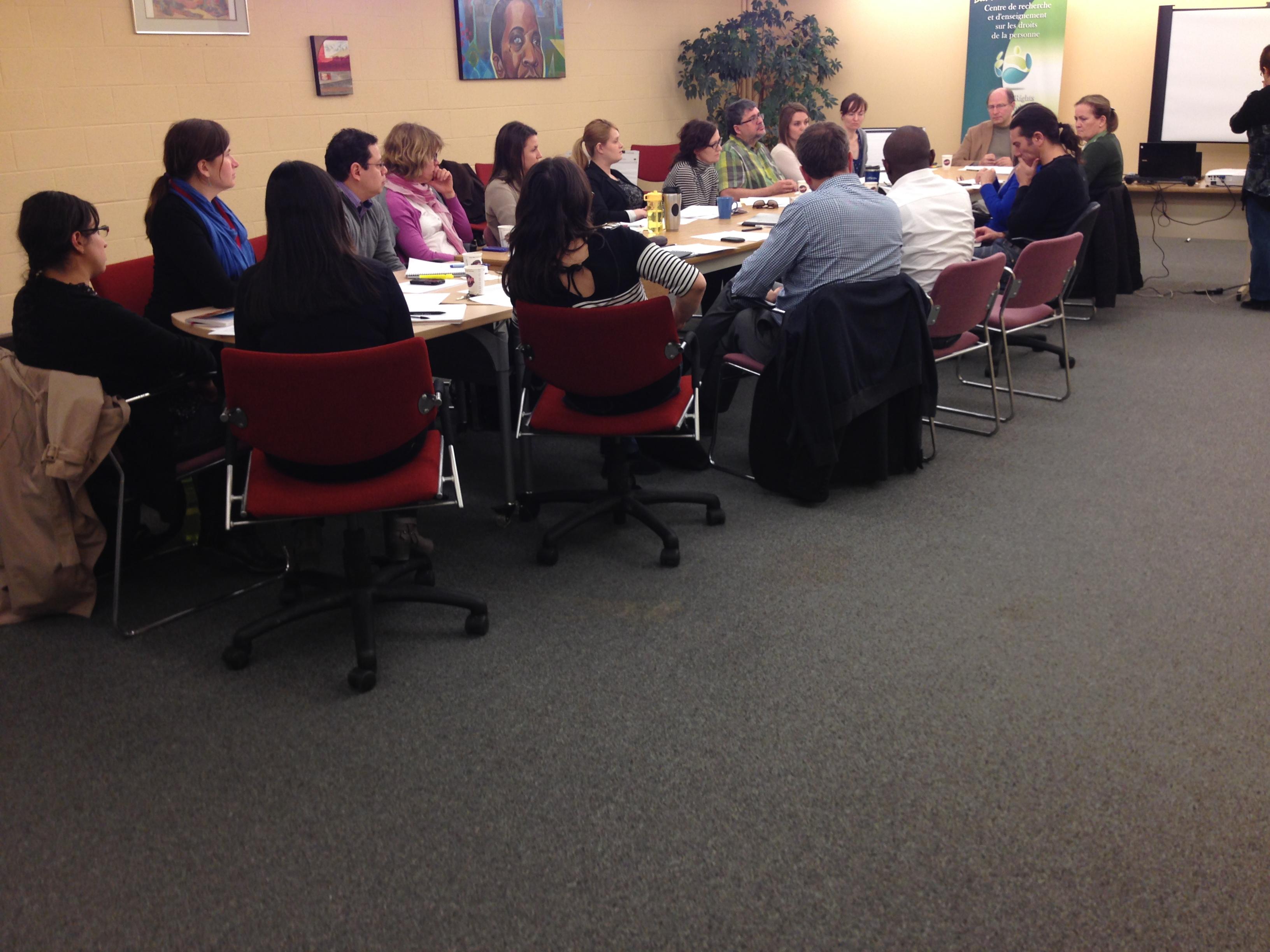 Session de planification stratégique avec les membres du CREDP MAI 28 2014