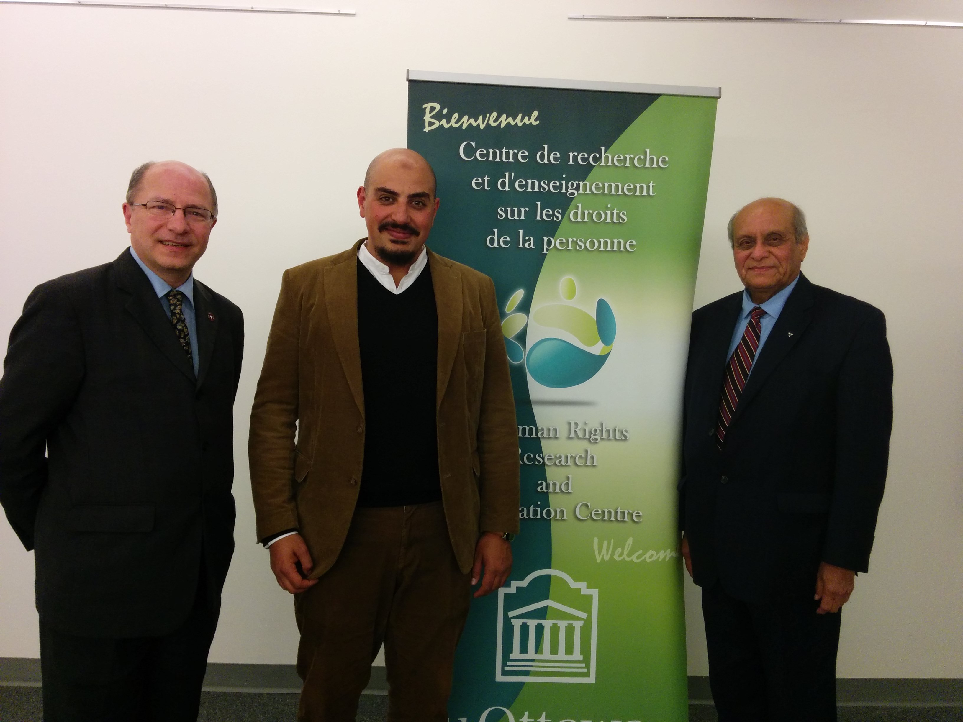 John Packer, Marwan Muhammad (OSCE) and Mobeen Khaja (Association of Progressive Muslims of Canada)