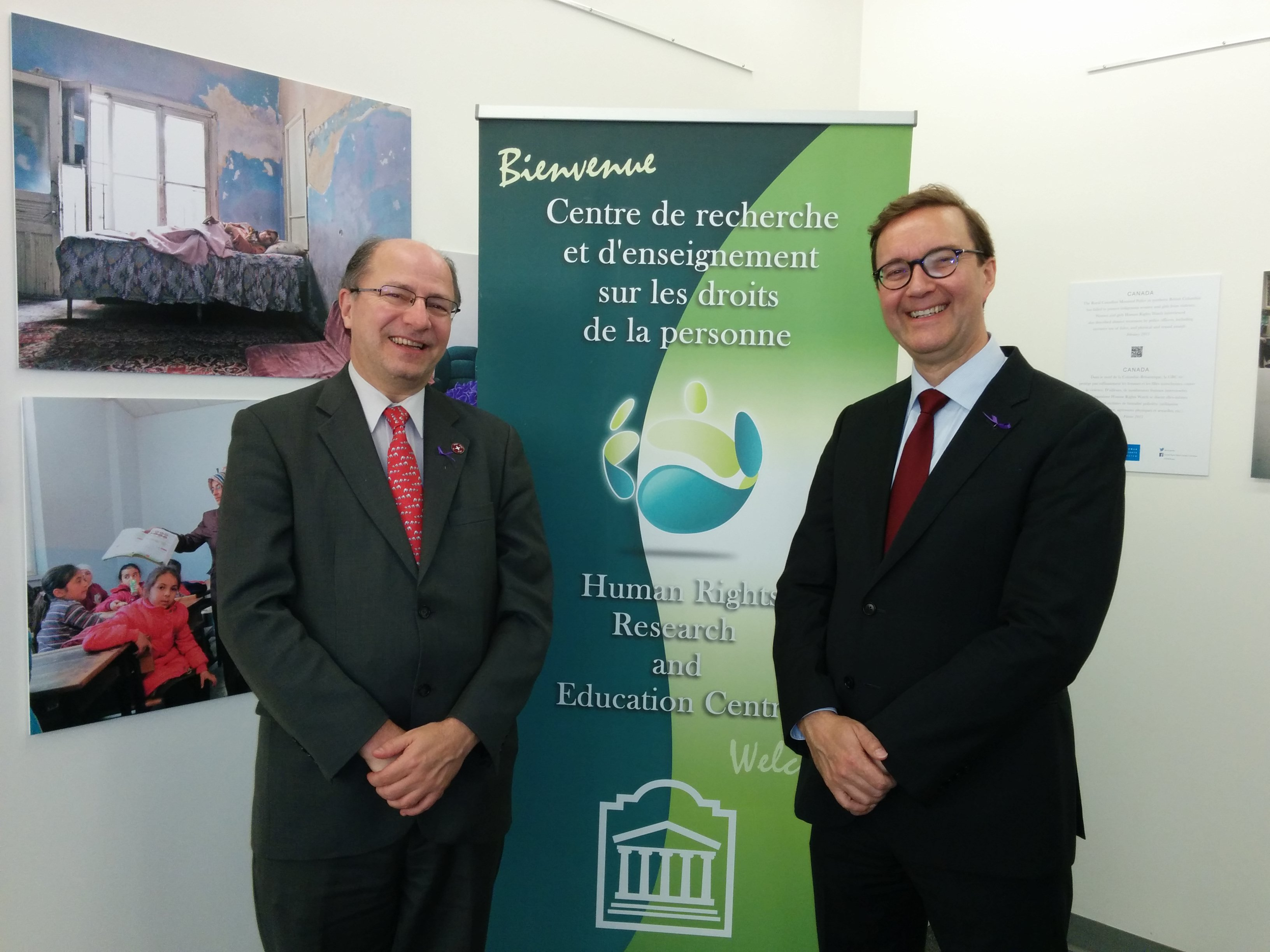 HRREC Director John Packer and Visiting Professor Markku Suki (Åbo Akademi University, Finland)