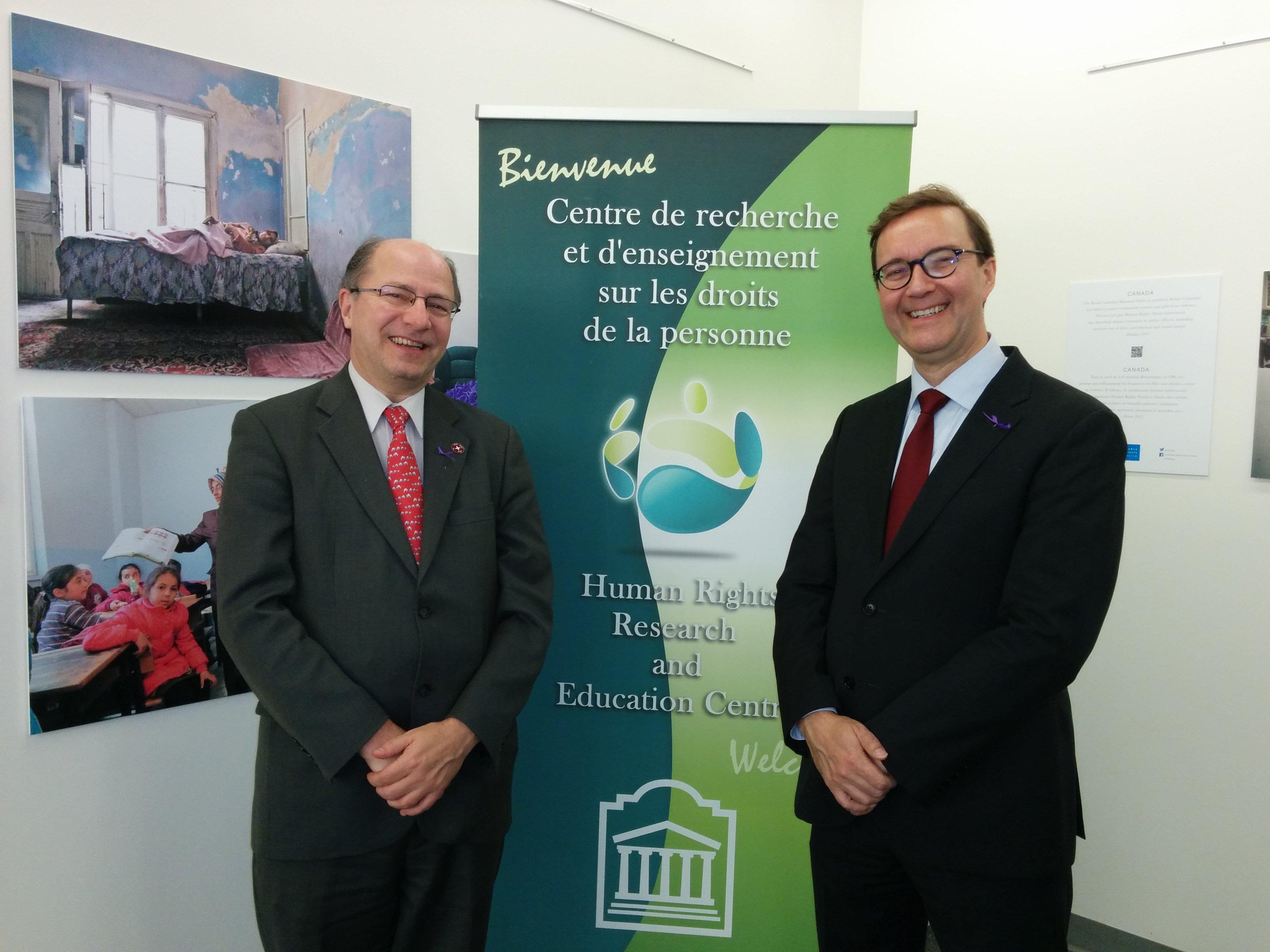 HRREC Director John Packer and Visiting Professor Markku Suki (Åbo Akademi University, Finland)