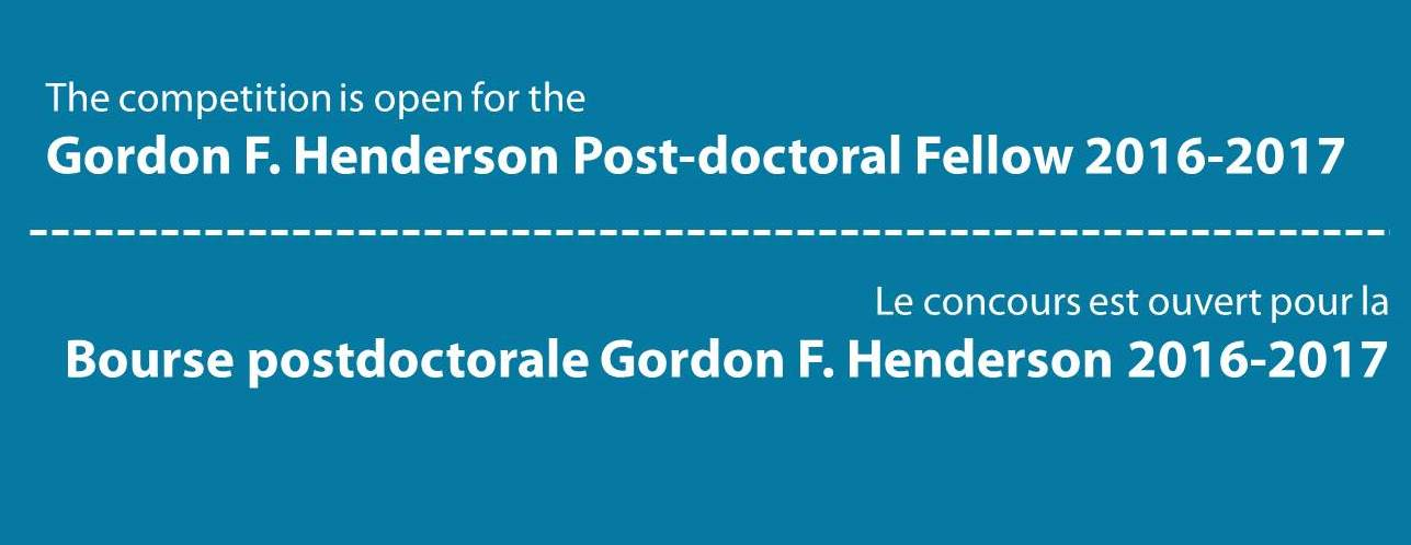 Competition G.F. Henderson Postdoctoral Fellow 2016-2017