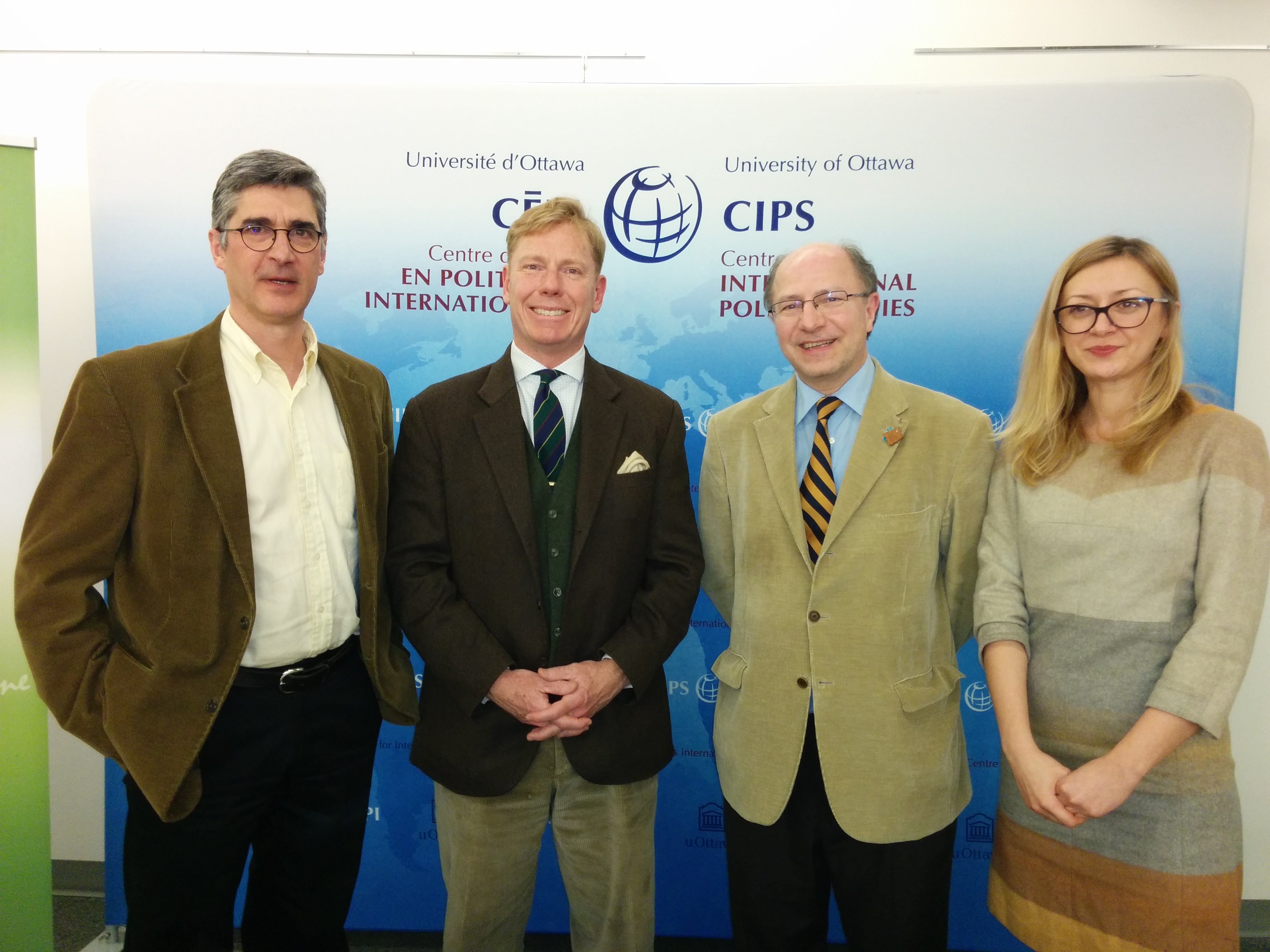 David Petrasek (CIPS), William Wiley & Nerma Jelacic (Commission for International Justice and Accountability - CIJA) and John Packer - MARCH 2016