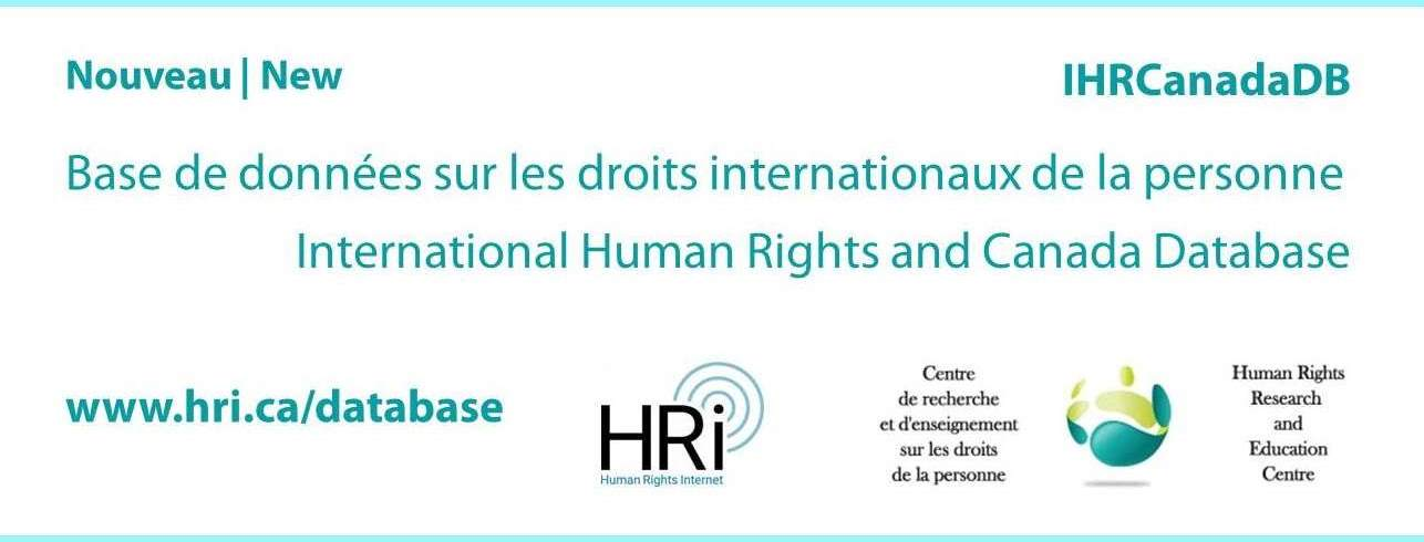 International Human Rights and Canada Database | Base de données sur les droits internationaux de la personne