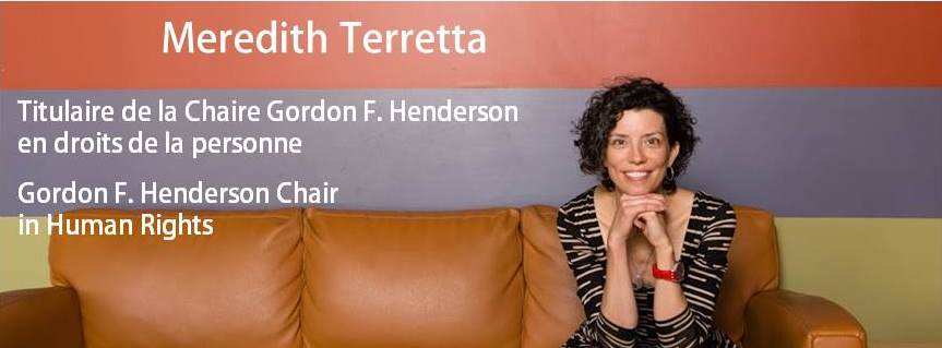 Meredith Terretta - Gordon F. Henderson Chair in Human Rights | Chaire Gordon F. Henderson en droits de la personne