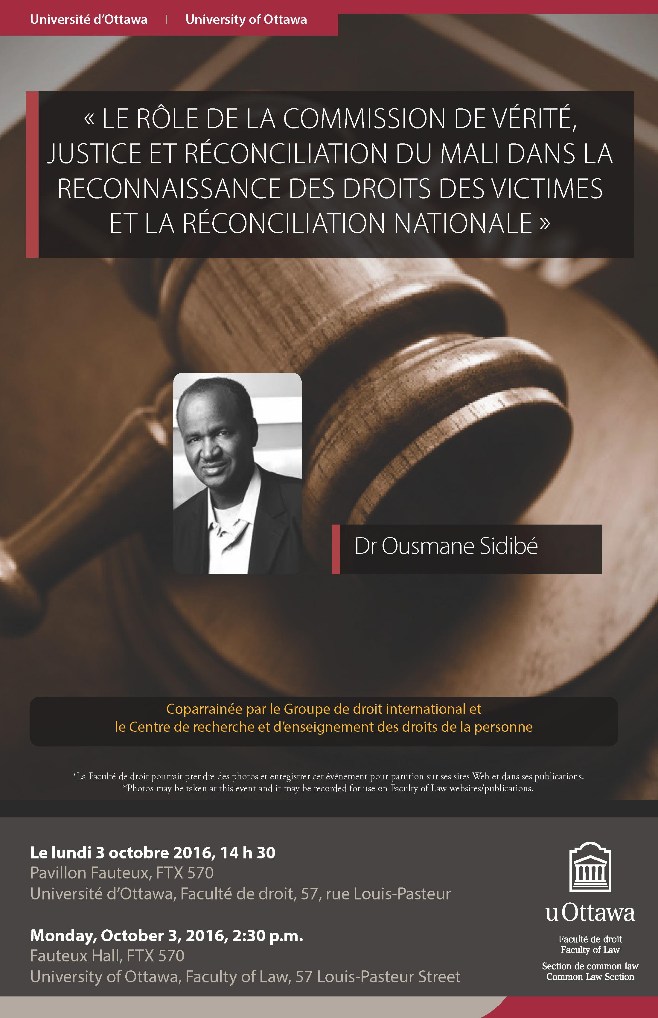 Le rôle de la commission de vérité, justice et réconciliation du Mali avec Ousmane Sibidé