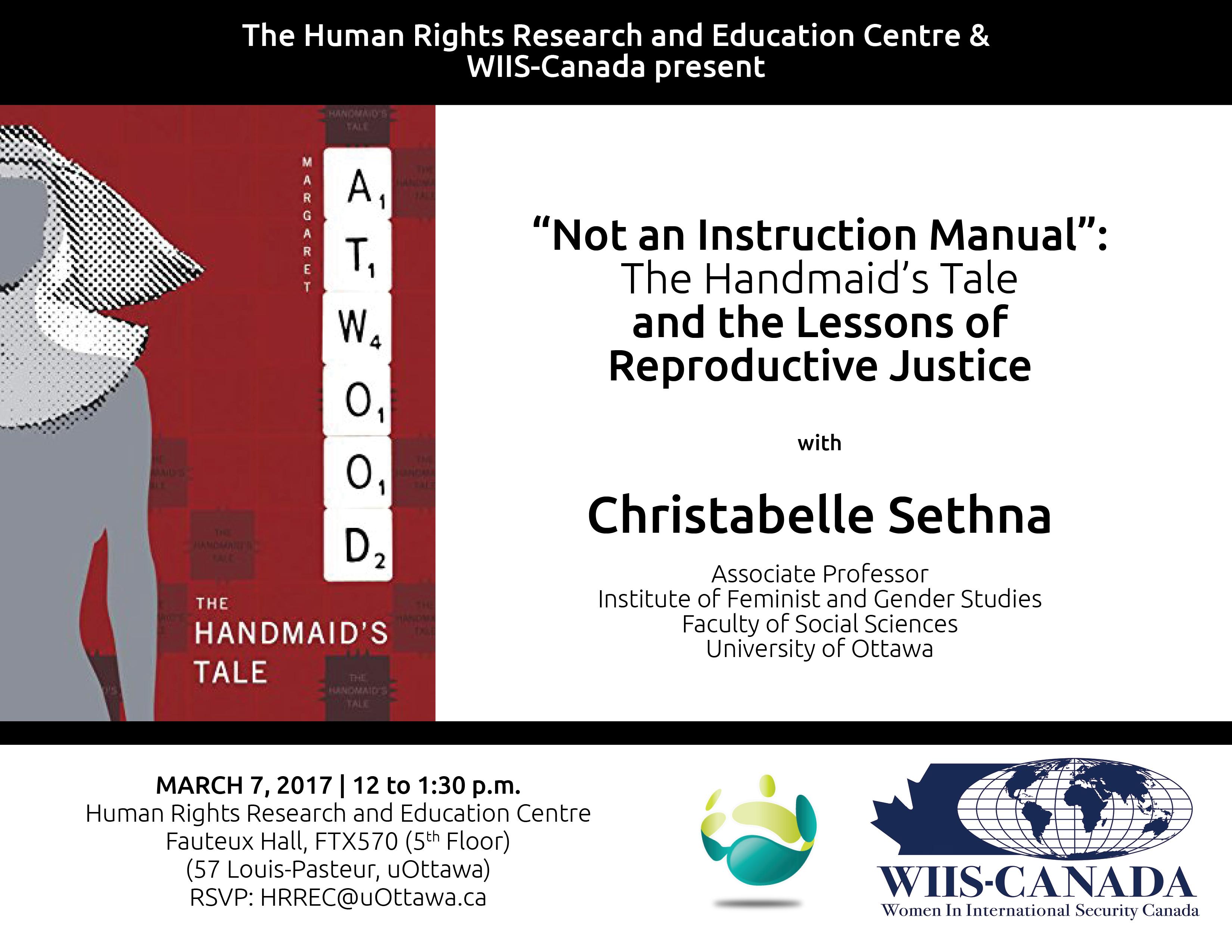 Presentation by Christabelle Sethna | Présentation par Christabelle Sethna