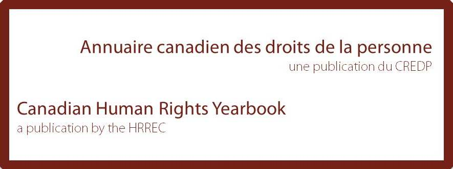 Call for Submission - Canadian Human Rights Yearbook