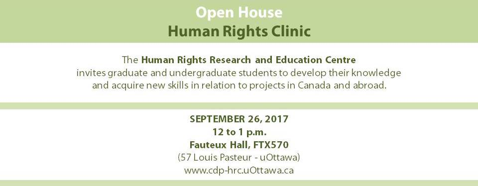 Open House - Human Rights Clinic