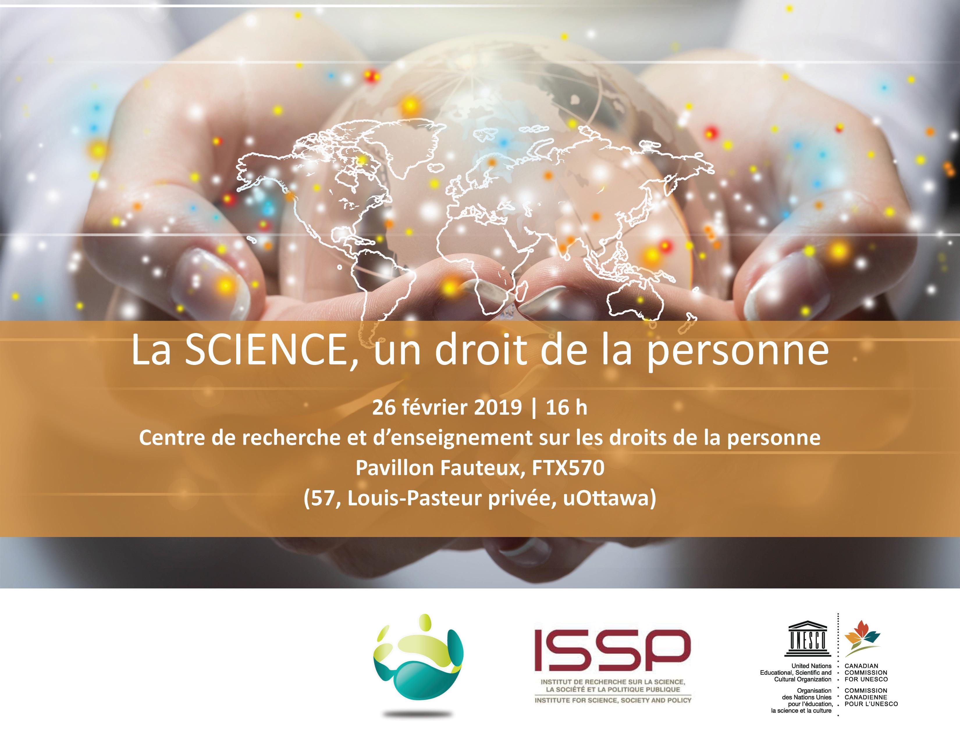 La SCIENCE, un droit de la personne