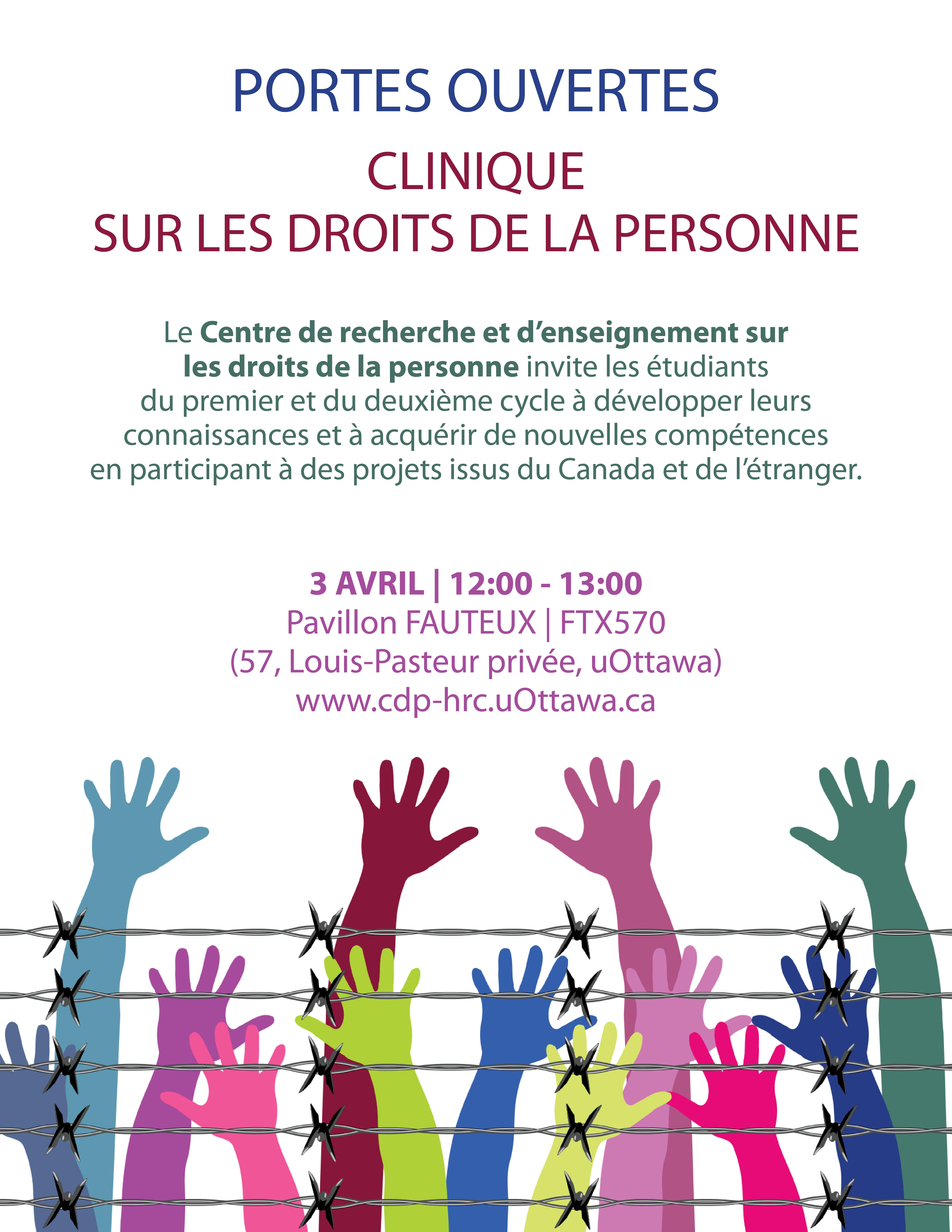 Portes ouvertes - Clinique sur les droits de la personne
