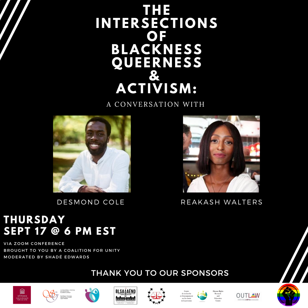 The Intersections of Blackness, Queerness and Activism