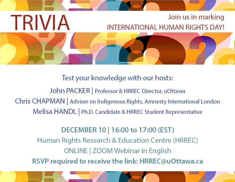 Trivia for International Human Rights Day