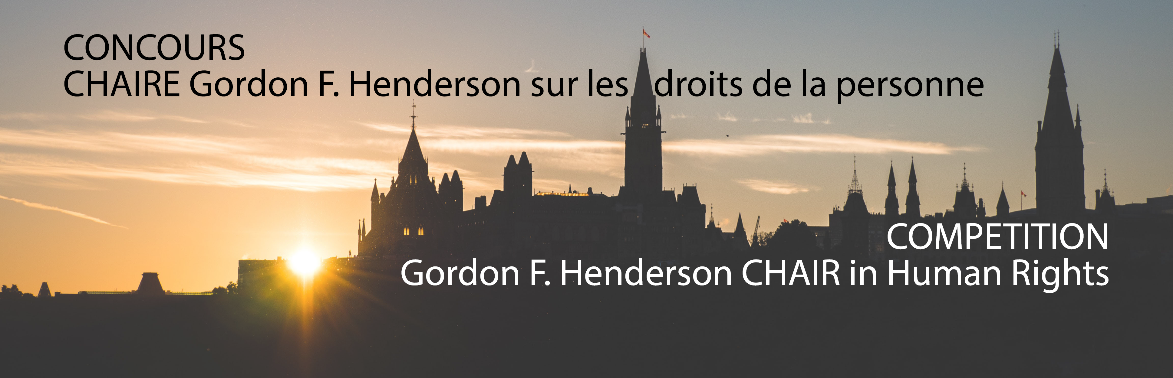 Competition | Gordon F. Henderson Chair in Human Rights