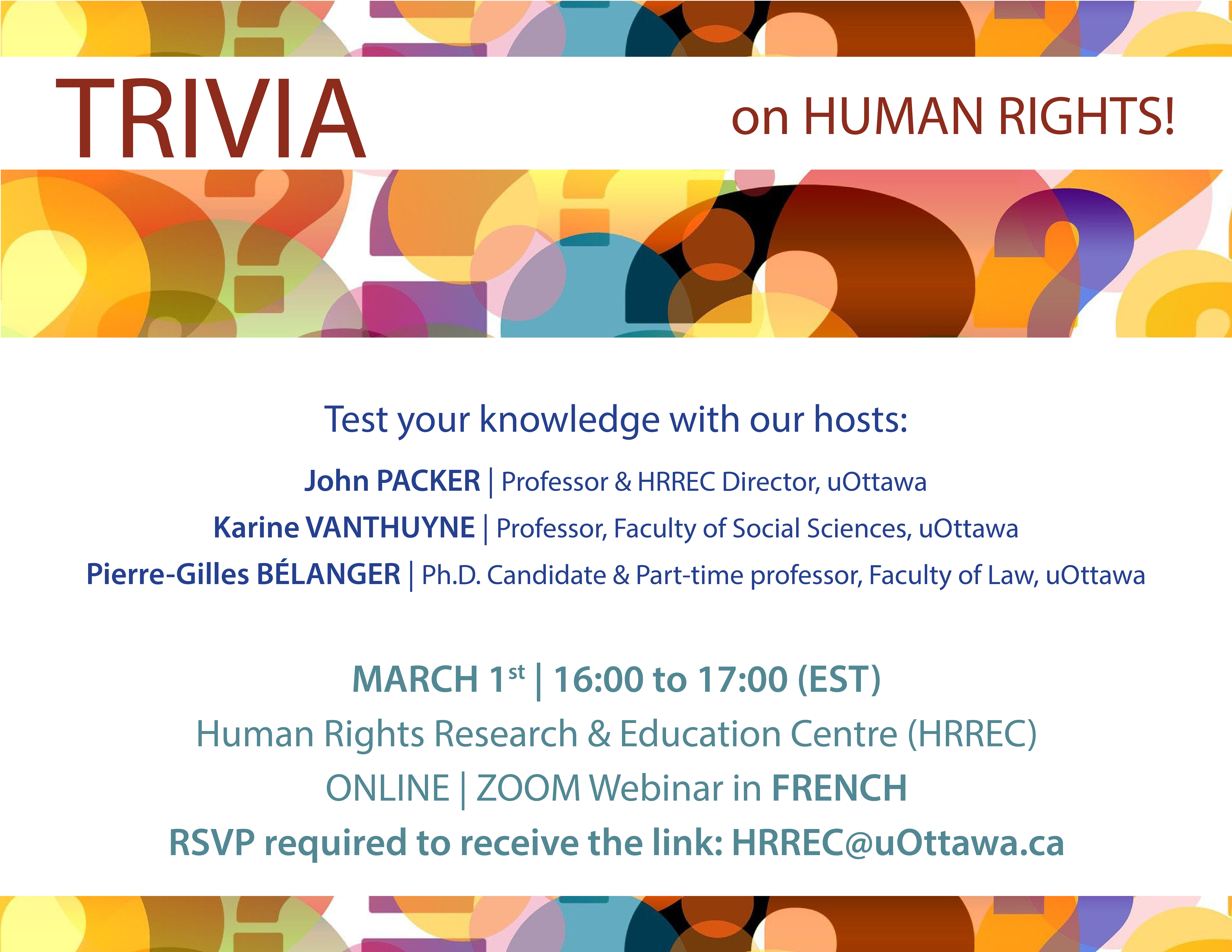 EVENT | TRIVIA on Human Rights!