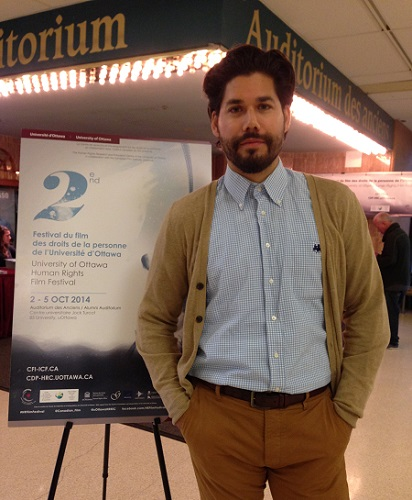"Carlo Guillermo Proto, Director of the film ""El Huaso"", at the 2nd Human Rights Film Festival OCT 2014"