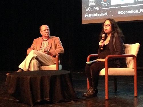 Panel pour le film « For Those Who Cannot Tell Tales » lors du 2e Festival du film sur les droits de la personne OCT 2014