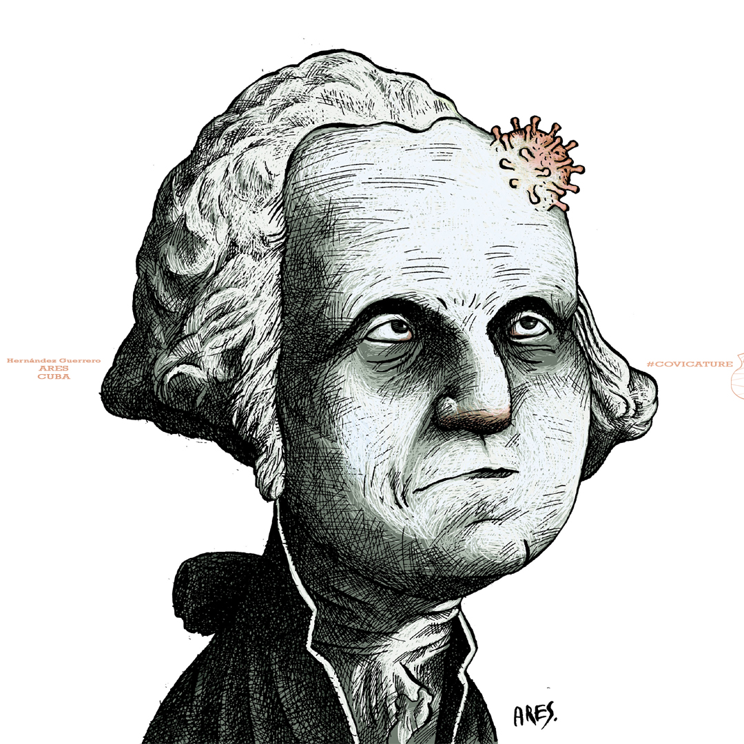Covicature - G. Washington by Ares (Artist)