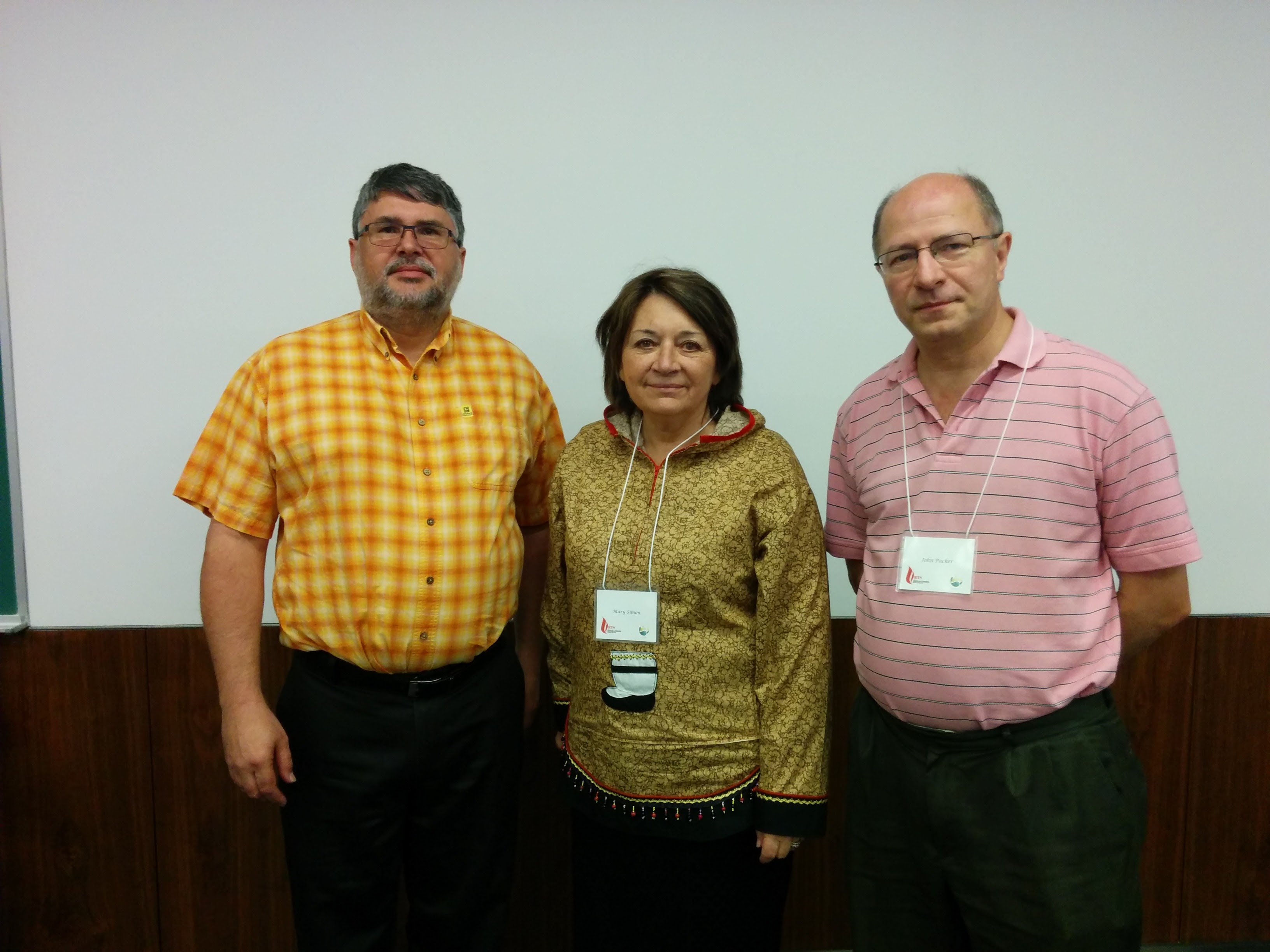 Larry Chartrand, Mary Simon & John Packer
