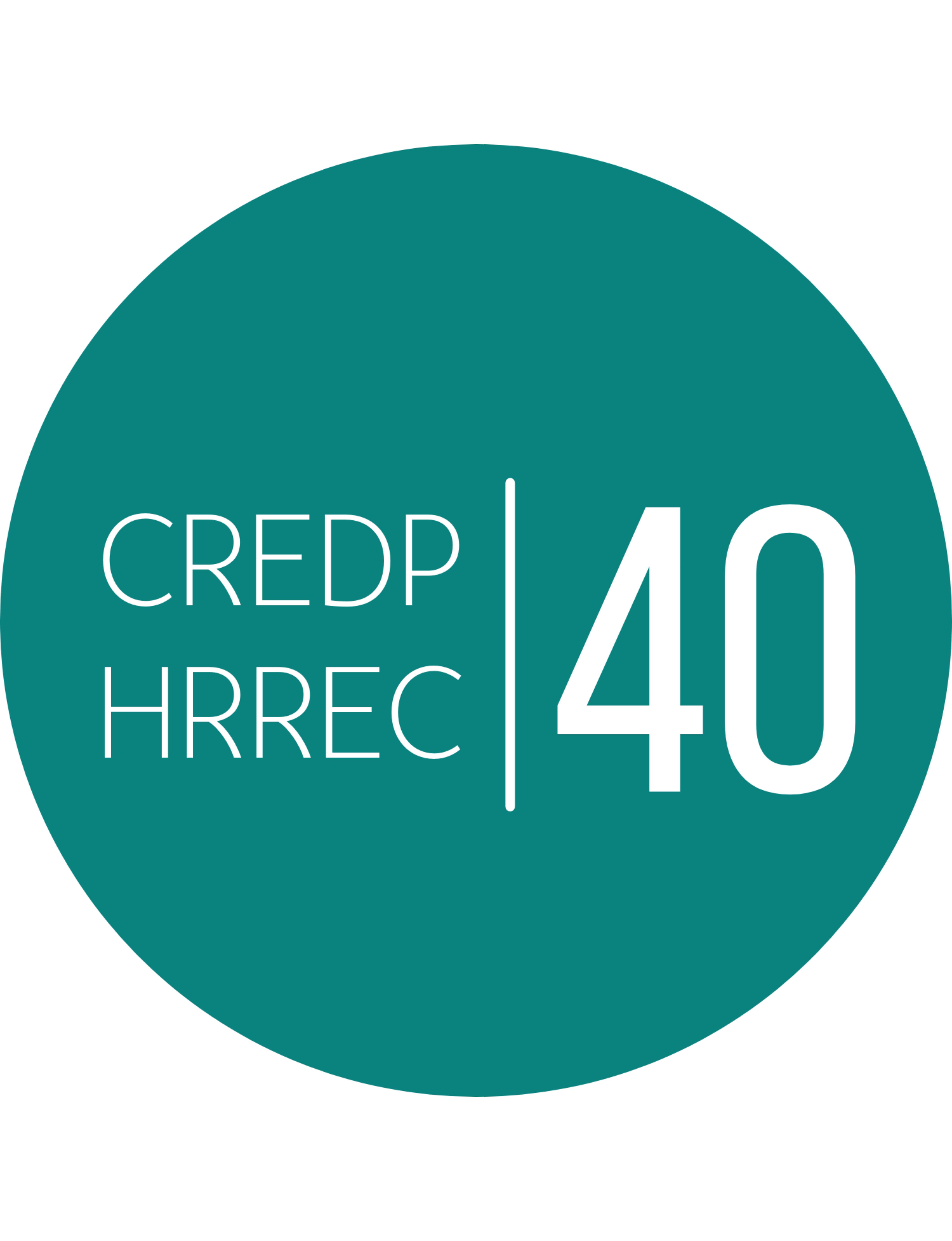 Logo rond sarcelle du CREDP qui a 40 ans en 2021-2022