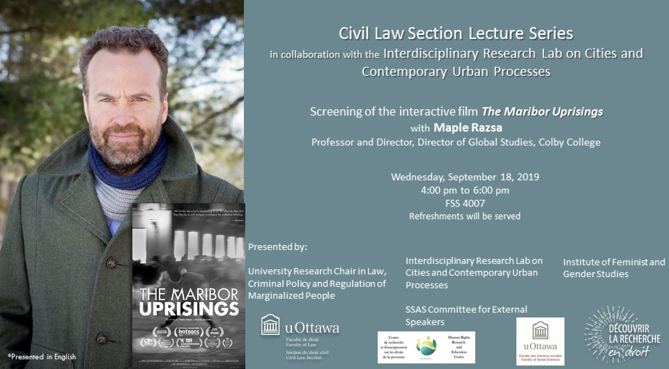 Screening of The Maribor Uprisings with Maple Razsa