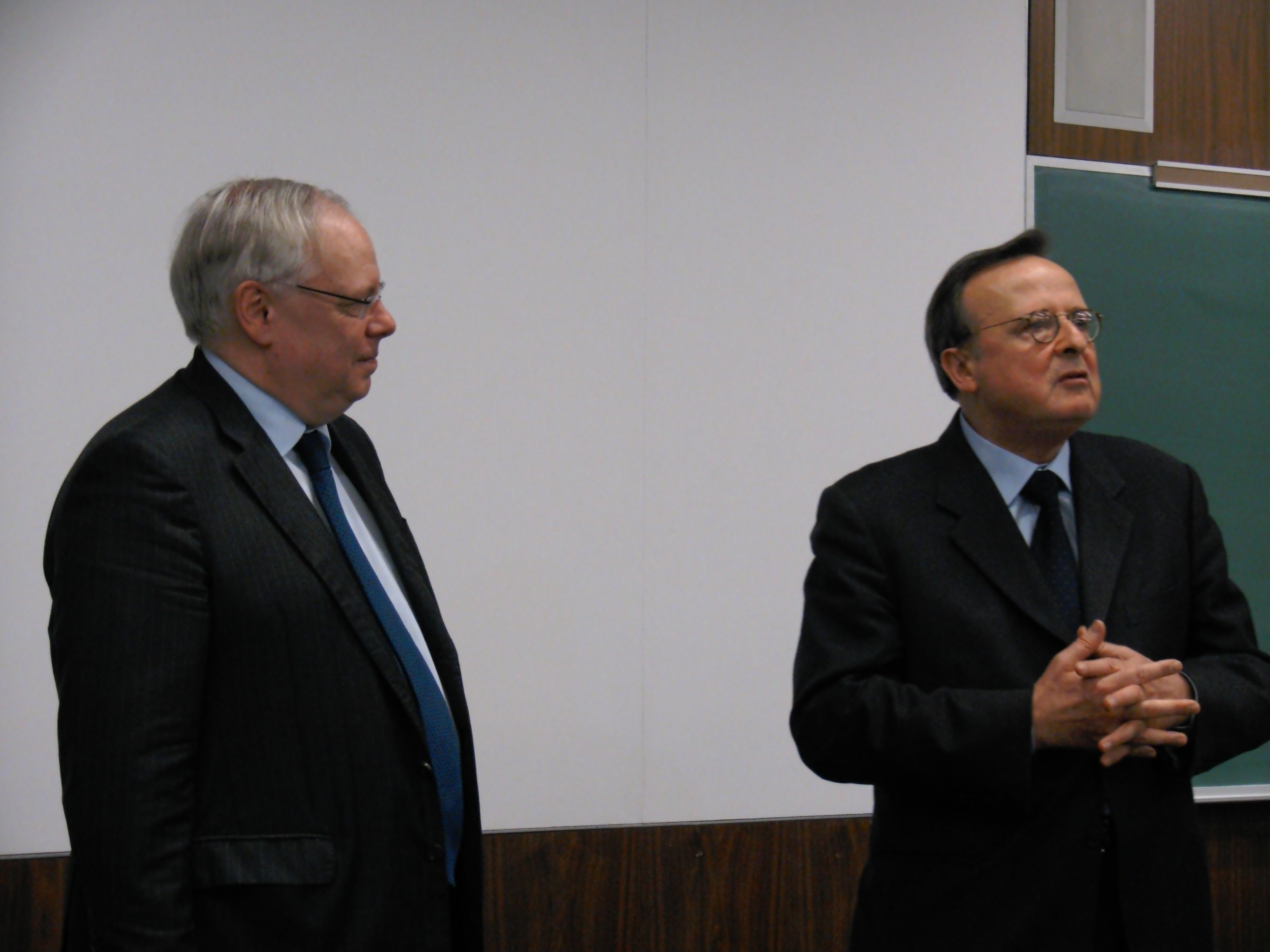 President Dean Spielmann and Vice-president Guido Raimondi of the European Court of Human Rights.