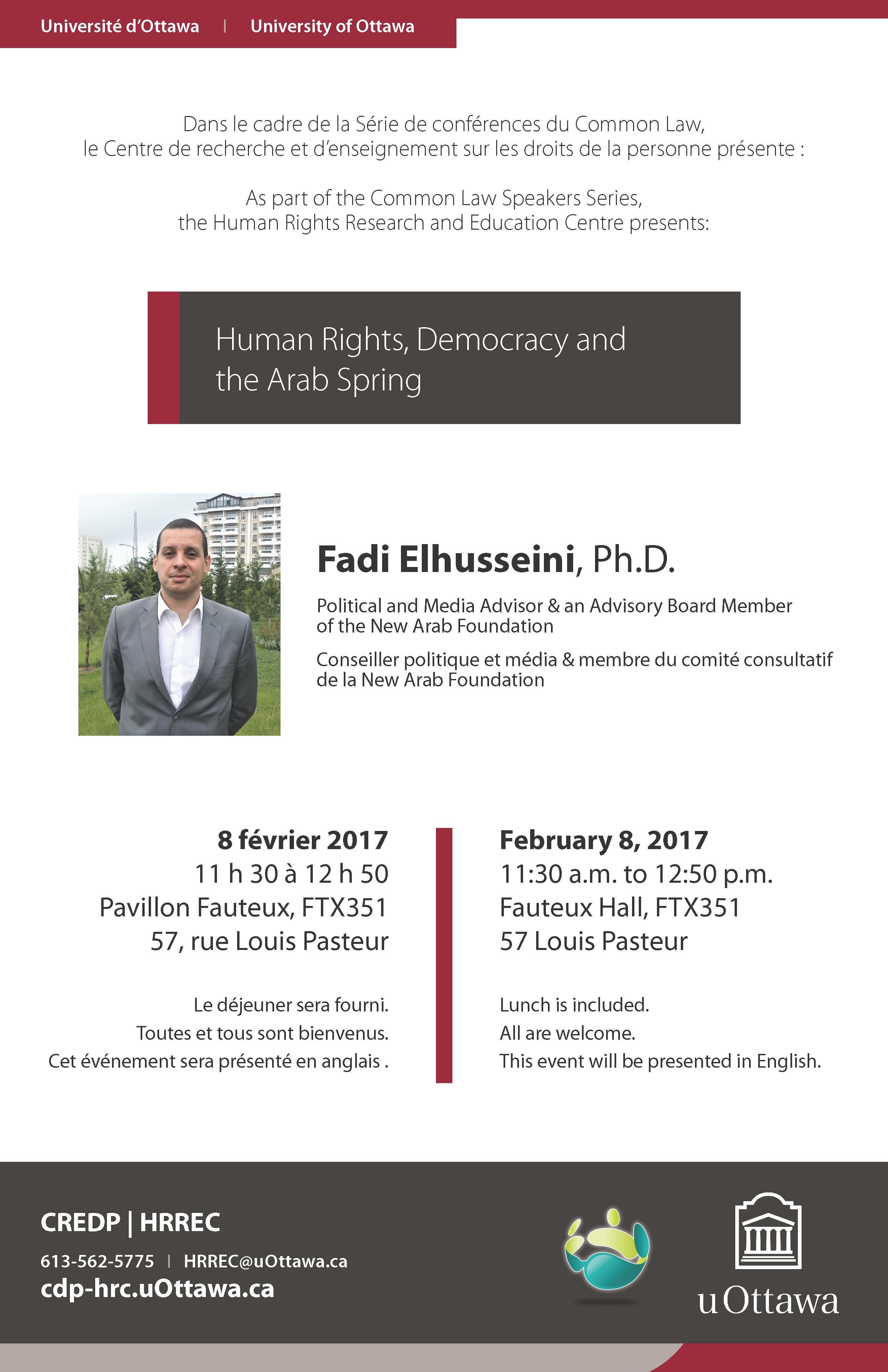Human Rights, Democracy and the Arab Spring | Droits de la personne, démocracie et le Printemps Arabe