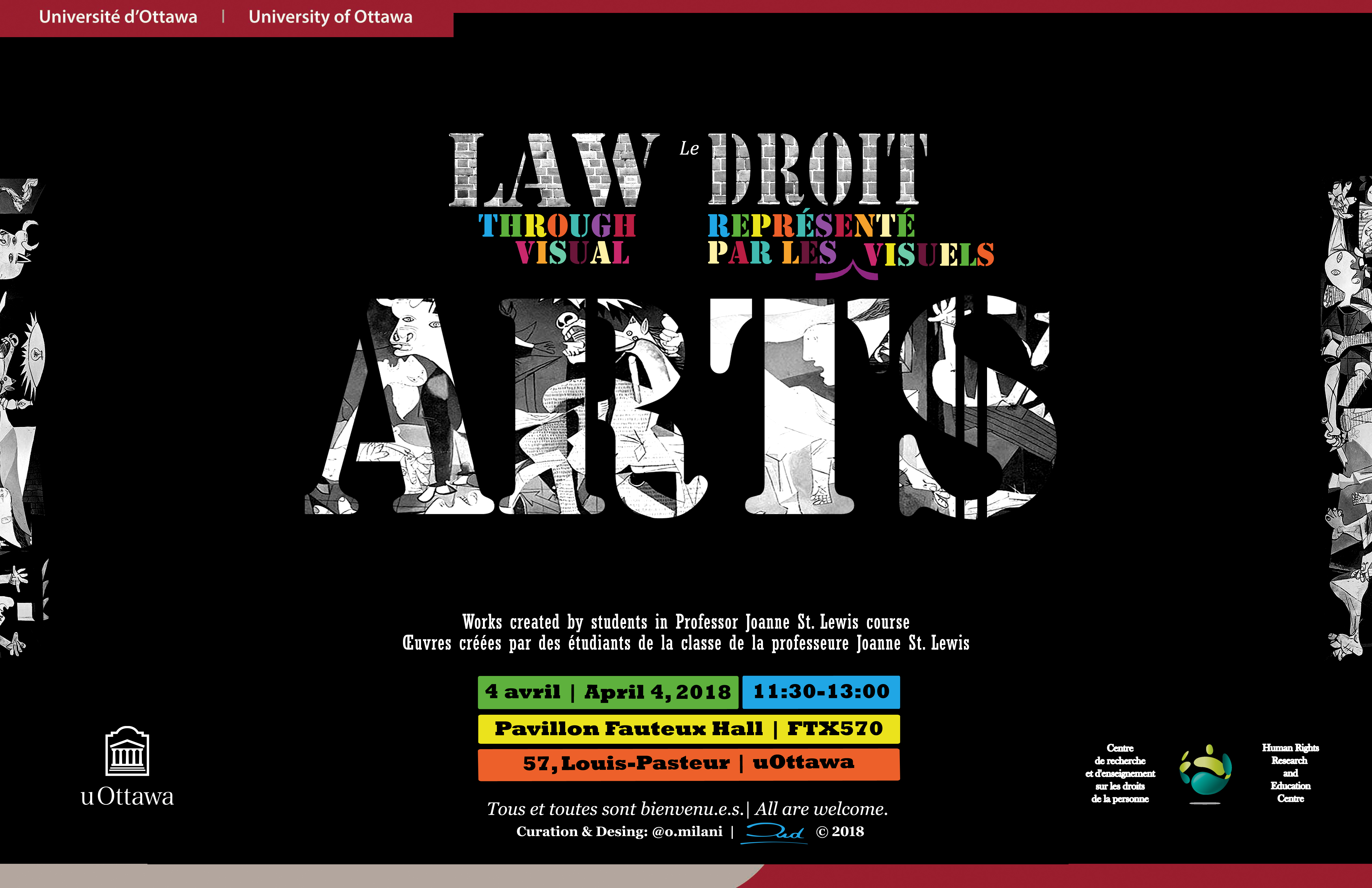 Exposition - Le droit représenté par les arts visuels